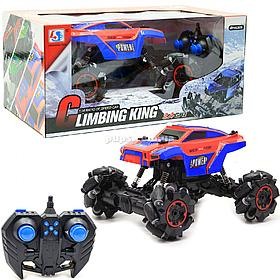 Машинка джип на радіоуправлінні Climbing King на роликових колесах, червоно-синя, 25х19х19 см (955-82)