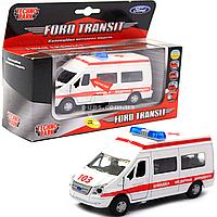 Машинка игровая «TechnoPark» Ford Transit скорая помощь 13х5х7 см (SB-13-02-1U)
