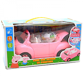 Ігровий набір «Машинка трансформер» Свинка Пеппа, світлові і звукові ефекти (YM 11-803)