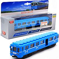 Машинка игровая «TechnoPark» вагон метро со световыми и звуковыми эффектами, 19х3х4 см (SB-17-19WB)
