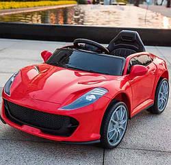 Дитячий електромобіль, від 3-х до 8-ми років, 2 мотора по 18W, 1 аккум, MP3, Bluetooth, T-7653 Eva Red