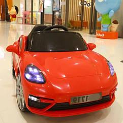 Дитячий електромобіль, від 3-х до 8-ми років, 2 мотора по 15W, 1 аккум, MP3, Bluetooth, T-7660 Eva Red