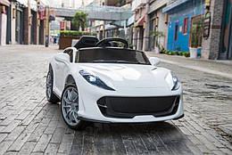 Дитячий електромобіль, від 3-х до 8-ми років, 2 мотора по 18W, 1 аккум, MP3, Bluetooth, T-7653 Eva White