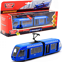 Машинка игровая «TechnoPark» Трамвай со световыми и звуковыми эффектами, 30х6х8 см (SB-17-51-WB)