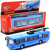 Машинка игровая «TechnoPark» троллейбус металл Днепр, 16х4х4 см (SB-16-65WB)