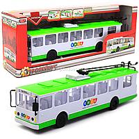 Машинка игровая «TechnoPark» Троллейбус со световыми и звуковыми эффектами, 30х6х8 см (SB-17-17WBK)