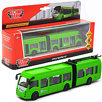 Машинка игровая «TechnoPark» Троллейбус Харьков со световыми и звуковыми эффектами, 18х4х4 см (SB-18-11WB(NO