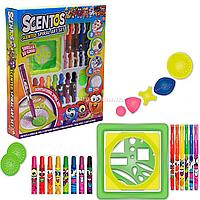 Игровой набор для творчества ароматные фломастеры Scentos Озорные узоры, 33 элемента (42145)
