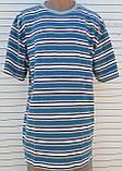Мужская футболка большого размера Футболка из натуральной ткани Большая футболка 58 размер Серо-бирюзовые, фото 4