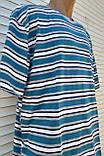 Мужская футболка большого размера Футболка из натуральной ткани Большая футболка 58 размер Серо-бирюзовые, фото 5
