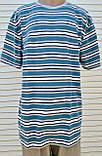 Мужская футболка большого размера Футболка из натуральной ткани Большая футболка 58 размер Серо-бирюзовые, фото 6