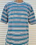 Мужская футболка большого размера Футболка из натуральной ткани Большая футболка 58 размер Серо-бирюзовые, фото 9