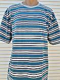 Мужская футболка большого размера Футболка из натуральной ткани Большая футболка 58 размер Серо-бирюзовые, фото 8