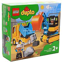 Конструктор LEGO DUPLO Грузовик и гусеничный экскаватор, 20 деталей (10931)
