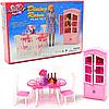 Детская игрушечная мебель Глория Gloria для кукол Барби столовая 24011. Обустройте кукольный домик