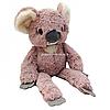 Мягкая игрушка плюшевый Коала «Лимпопо» Копиця, мех искусственный, розово-серый, 45*16*12 см, (00237-41)