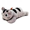 Мягкая игрушка плюшевый котик «Лунита» Копиця, мех искусственный, серый, 35*15*10 см, (24928-2)