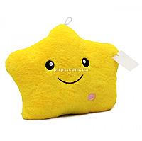 Мягкая игрушка подушка «Звездочка со светом» желтый 40*30*15 см (0908)