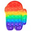 Розвиваюча сенсорна іграшка антистрес Pop it (Поп іт) (райдужний амонг ас максі)