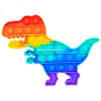 Развивающая сенсорная игрушка антистресс Pop it (Поп ит) (радужный динозавр )