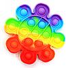 Розвиваюча сенсорна іграшка антистрес Pop it (Поп іт) (райдужний квітка)