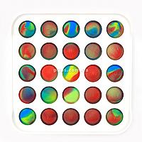 Развивающая сенсорная игрушка антистресс Pop it (Поп ит) пластиковый корпус ( квадрат)