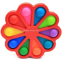 Розвиваюча сенсорна іграшка антистрес Pop it (Поп іт) Simple Dimple (Сімпл Дімпл) червона (S10), фото 1