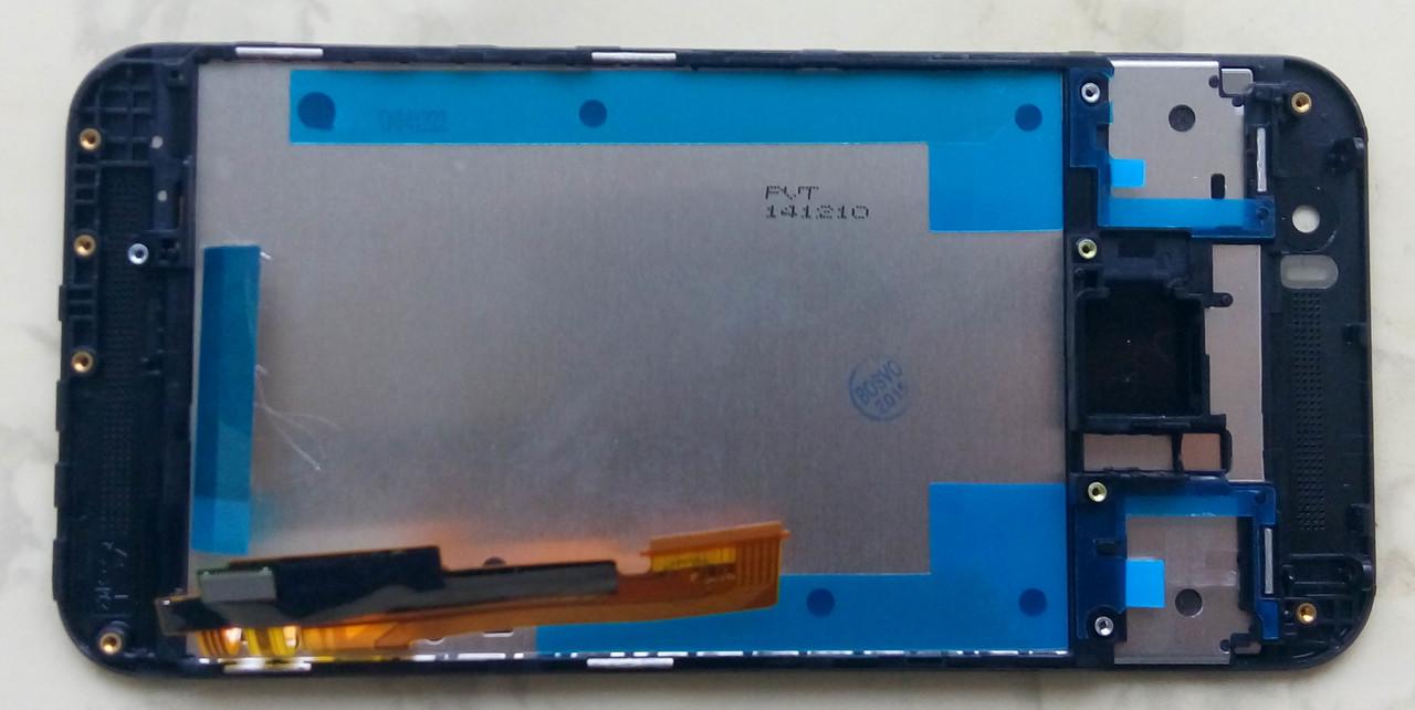 Дисплей модуль HTC One M9 в зборі з тачскріном, чорний, з рамкою
