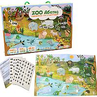 Настольная игра Умняшка обучающая с многоразовыми наклейками «ZOO Абетка», от 4 лет (КП-005)