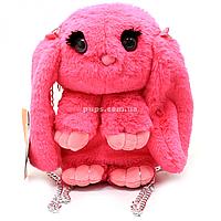 Детская сумочка-рюкзак мягкая игрушка Копиця «Кролик» розовый, 29 см (00205-10), фото 1