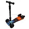 Самокат дитячий триколісний Best Scooter Maxi, музичний, з димовим ефектом, що світяться колеса (83273)