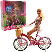 Кукла Defa Lucy на велосипеде с щенком, 30 см (8276)