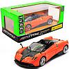 Машинка игровая автопром «Pagani Huayra roadster», 18, свет, звук, оранжевый (68264B)