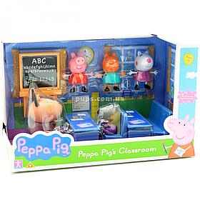 Дитячий ігровий набір фігурок Kiddisvit «Свинка Пеппа. Йдемо в школу »(20827)