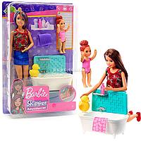 Кукла Барби Barbie Ванная комната забота за малышами (FHY97)