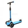 Самокат триколісний складаний Best Scooter блакитний колеса PU 12 см (D-0885)