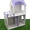 Игрушечный кукольный деревянный домик Unitywood 78х59х30 см, двухэтажный (фиолетовый)