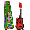 Игрушка детская гитара деревянная, струнная с медиатором, 58 см (M 1369)