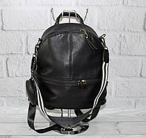 Рюкзак-сумка черный кожзам с кошельком Farfalla Rosso 6-582