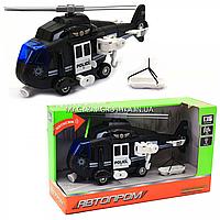 Машинка іграшкова Автопром «Поліцейський вертоліт» (звук, світло), 28х14х10 см (7674C), фото 1