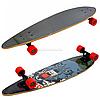 Скейтборд (лонгборд) с бесшумными колесами, 85*22 см, волк, колеса PU, d = 7 см (C32027)