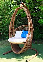 Подвесное кресло-кокон Кристи со стойкой, до 320 кг, 100*90*170 см, цвет на выбор + Гарантия