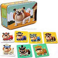 Магнитная игра пазлы Puzzlika Бульдог, 50 магнитов, 8 карточек (14262)