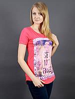 Женская футболка с круглой горловиной