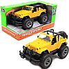 Машинка игровая Автопром джип желтый, 1:16 со звуком и светом (7667)