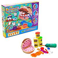 Набор игрушек и тесто для лепки «Умелый стоматолог» Fun Game от 3 лет (7310)