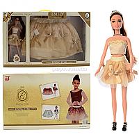 Набор кукла Emily «Восходящая звезда» и юбка для девочки, 30 см, (QJ069)