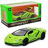 Машинка игровая металлическая Lamborghini «Автопром», салатовый, 14,5*6*3, (6602)