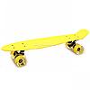 Пенні борд (скейт) з світяться колесами. Безшумний Penny Board Жовтий (945855759)