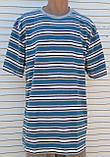 Чоловіча футболка великого розміру Футболка з натуральної тканини Велика футболка 62 розмір Сіро-бірюзові, фото 3